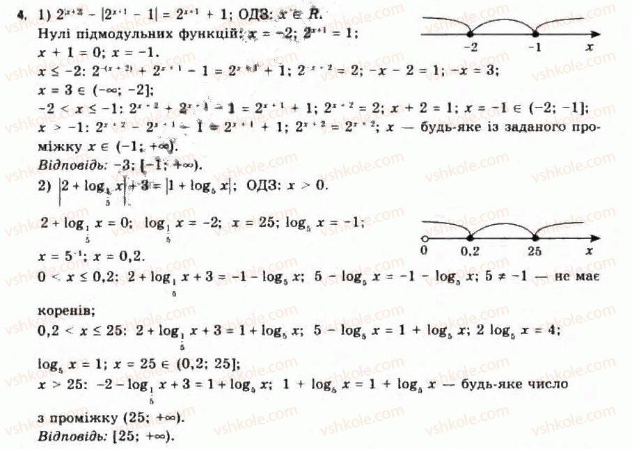 Алгебра 11 гдз нелін академічний рівень