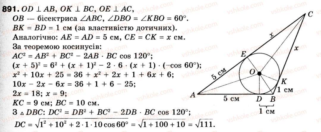З геометрії на 9 клас гдз