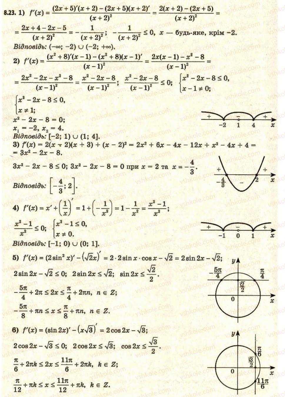 алгебра 11 академічний рівень профільний рівень мерзляк гдз